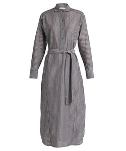 Vince | Striped Cotton-Voile Midi Dress