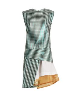 Toga | Gingham Layered Cotton-Blend Dress