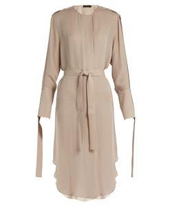 Calvin Klein Collection | Leryn Round-Neck Silk-Georgette Dress