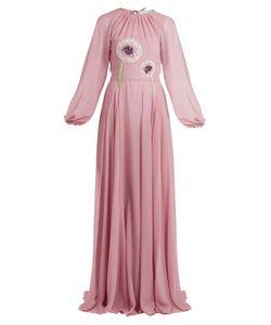 Luisa Beccaria | -Embellished Crepe De Chine Dress