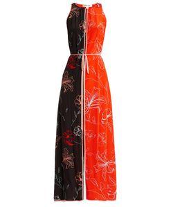 Diane Von Furstenberg | Sleeveless Open-Back Print Silk Dress