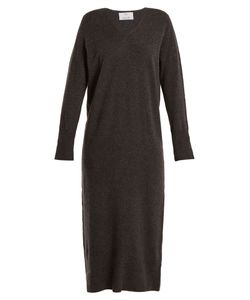 Allude | V-Neck Wool And Cashmere-Blend Knit Dress