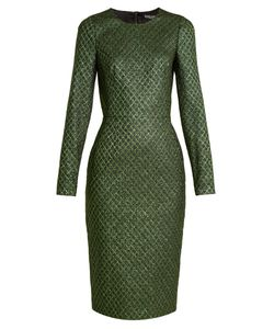 Dolce & Gabbana | Long-Sleeved Diamond-Jacquard Dress