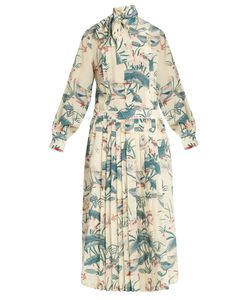 Stella Jean | Ottusa Waterlily-Print Silk Maxi Dress