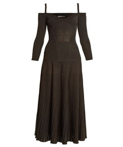 Alexander McQueen | Cold-Shoulder Wool-Blend Dress