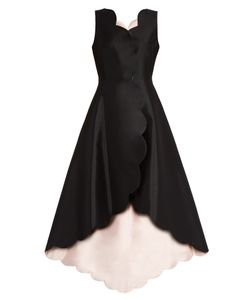 Huishan Zhang | Banu Reversible Scallop-Edged Wool-Blend Dress