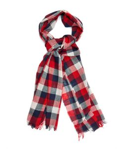 BEGG & CO. | Chequered Cotton And Linen-Blend Scarf
