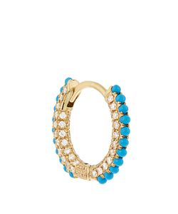 MARIA TASH | Diamond Turquoise Yellow-Gold Earring