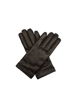 Gucci | Signature Leather Gg Debossed Gloves