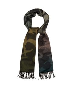 Begg & Co | Arran Camouflage-Print Cashmere Scarf