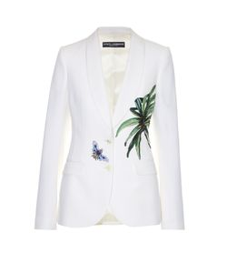 Dolce & Gabbana | Kenzia Leaf-Appliqué Single-Breasted Jacket