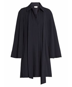 Chloe | Point Collar Long-Sleeved Cady Shirtdress