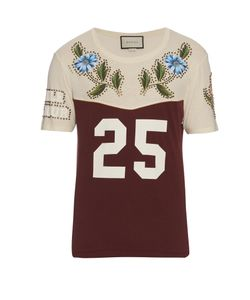 Gucci | Cotton-Jersey Stud-Embellished T-Shirt