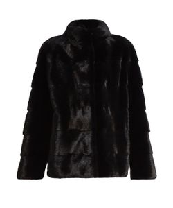 LILLY E VIOLETTA | Sarah Funnel-Neck Mink-Fur Jacket
