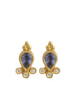 MARIA TASH | Diamond Sapphire Yellow-Gold Earring