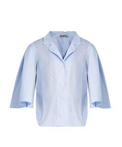 THREE GRACES LONDON | Gisele Striped-Cotton Pyjama Shirt