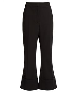Stella Mccartney | Mid-Rise Kick-Flare Wool-Blend Trousers
