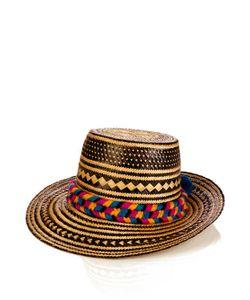 YOSUZI   Kerala Pompom-Embellished Straw Hat