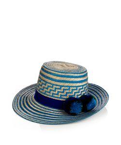 YOSUZI | Simea Pompom-Embellished Straw Hat