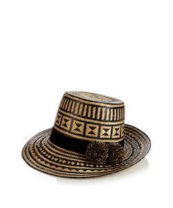 YOSUZI | Musa Pompom-Embellished Straw Hat