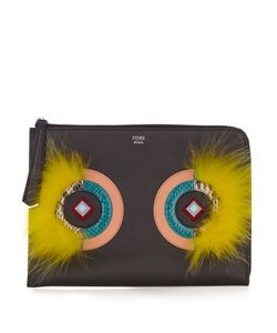 Fendi | Leather And Fur Pouch