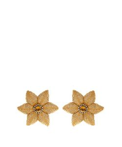 SILVIA FURMANOVICH | Diamond Citrine Gold-Plated Porcelain Earrings