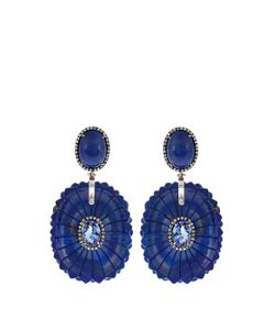 SILVIA FURMANOVICH | Diamond Tanzanite Lapis White-Gold Earrings