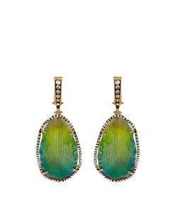 SILVIA FURMANOVICH | Diamond Resin-Coated Petal Yellow-Gold Earrings