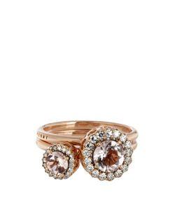 SELIM MOUZANNAR | Diamond Morganite Pink-Gold Beirut Rings