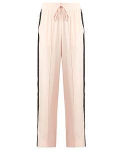 SERENA BUTE | Wide-Leg Crepe De Chine Drawstring Trousers