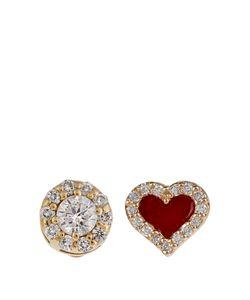 ALISON LOU | Diamond Enamel Yellow-Gold Earrings