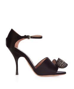 Rochas   Bow-Embellished Satin High-Heel Sandals