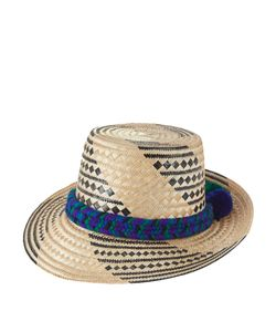 YOSUZI | Kaikai Pompom-Embellished Straw Hat