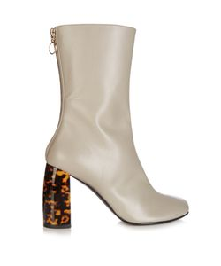 Stella Mccartney | Tortoiseshell Block-Heel Faux-Leather Boots