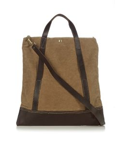 MALLE | Remi Waxed Cotton-Canvas Tote