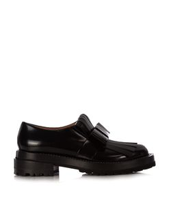 Marni | Fringed-Bow Leather Loafers
