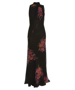 Etro | High-Neck Sleeveless Floral-Print Gown