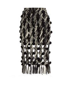 TABULA RASA | Lela Hand-Macramé Pompom Embellished Skirt