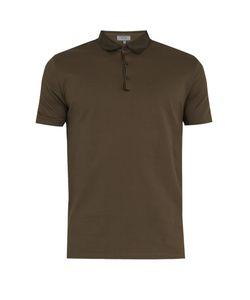 Lanvin | Contrasting-Collar Cotton-Piqué Polo Shirt