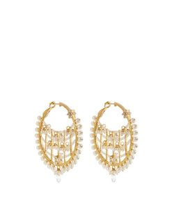 MARIA TASH | Diamond Pearl Yellow-Gold Earrings
