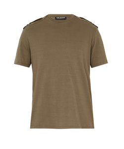 Neil Barrett | Shoulder-Epaulette Cotton T-Shirt