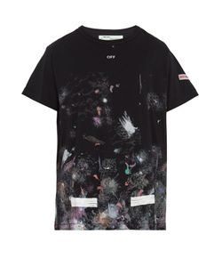 OFF-WHITE   Galaxy-Print Cotton-Jersey T-Shirt