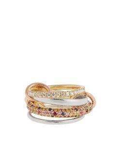 SPINELLI KILCOLLIN | Rainbow Diamond Sapphire Gold Ring