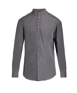 HELBERS | Band-Collar Cotton-Poplin Shirt
