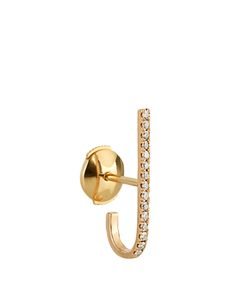 ELISE DRAY | Diamond Pink-Gold Mini Barre Earring