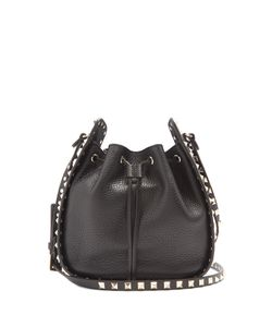 Valentino | Rockstud Bucket Grained-Leather Cross-Body Bag