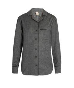 MORPHO + LUNA | Agatha Flannel-Wool Pyjama Shirt