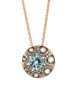 SELIM MOUZANNAR | Diamond Aquamarine Mille Et Une Nuits Necklace