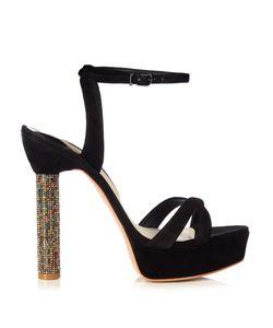 Sophia Webster | Belle Crystal-Heel Suede Sandals