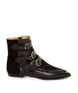 Isabel Marant | Rowi Leather And Suede Ankle Boots